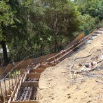 Retaining Wall Installation 1