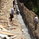 Retaining Wall Installation 2
