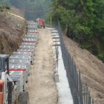 Retaining Wall Installation 3