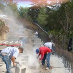 Retaining Wall Installation 4