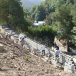 Retaining Wall Installation 5