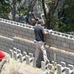 Retaining Wall Installation 6