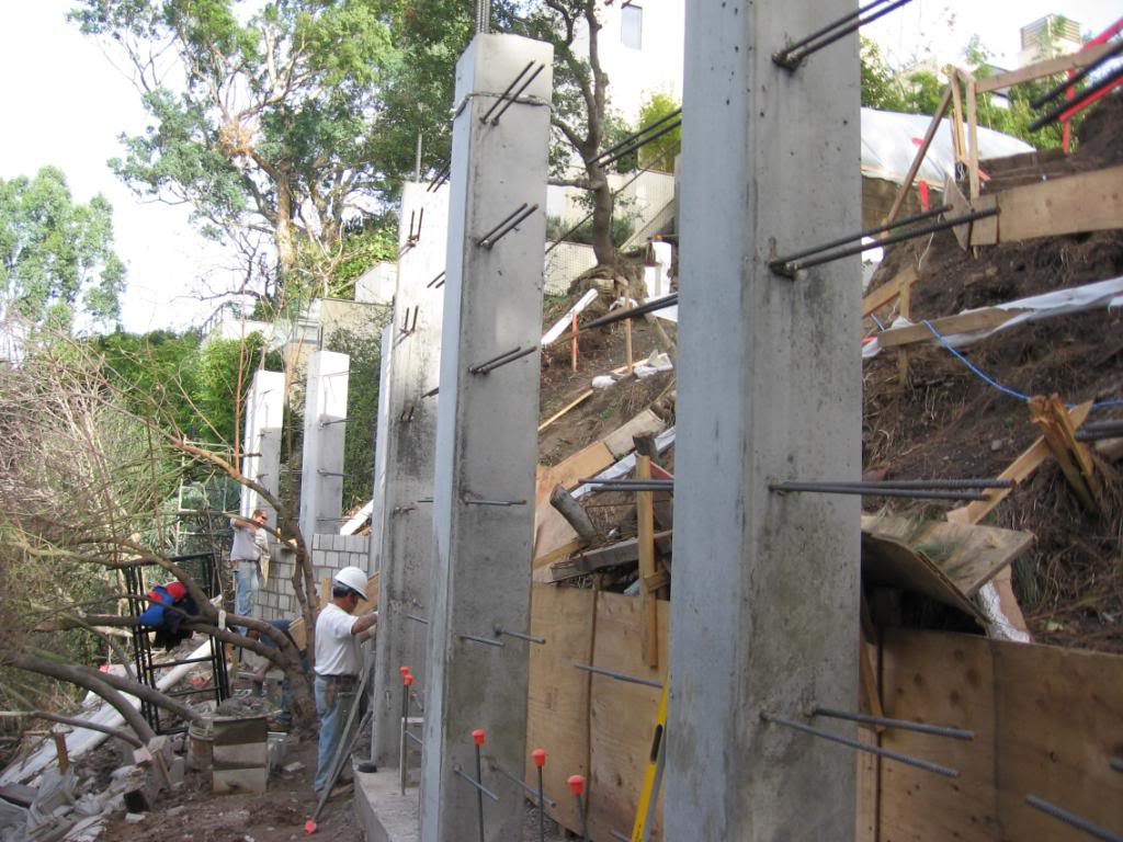 Retaining Wall Installation 9