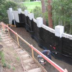 Retaining Wall Installation 14